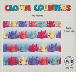 Counters, Clown (100 pcs.; 1 box for every 5 students)