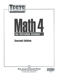 Math 4 Tests (5 pk) (2nd ed.)