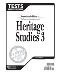 Heritage Studies 3 Tests Answer Key (2nd. ed.)