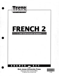 French 2 Tests Answer Key