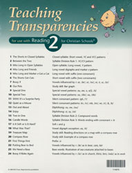 Reading 2 Teaching Transparencies (2nd ed.)