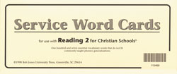 Reading 2 Service Word Cards (2nd ed.)
