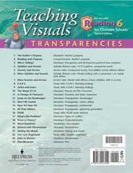 Reading 6 Teaching Transparencies (2nd ed.)