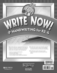 Beginnings K5 Write Now! Handwriting (3rd ed.)