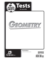 Geometry Tests Answer Key (3rd ed.)