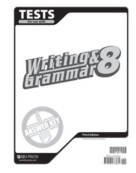 Writing & Grammar 8 Tests Answer Key (3rd ed.)