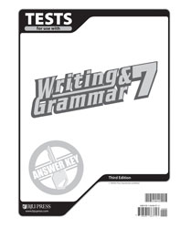 Writing & Grammar 7 Tests Answer Key (3rd ed.)