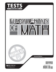 Fundamentals of Math Tests Answer Key (2nd ed.)