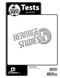 Heritage Studies 5 Tests Answer Key (3rd ed.)