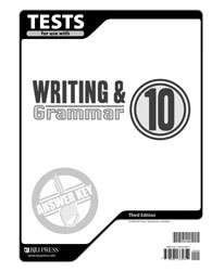 Writing & Grammar 10 Tests Answer Key (3rd ed.)