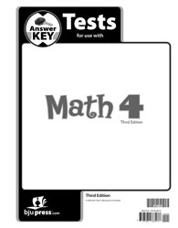 Math 4 Tests Answer Key (3rd ed.)