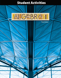 Algebra 1 Student Activities Manual (3rd ed.)