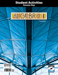 Algebra 1 Student Activities Manual Answer Key with CD (3rd ed.)