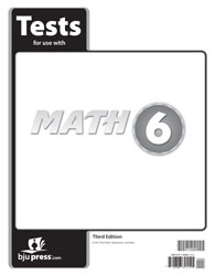 Math 6 Tests (3rd ed.)