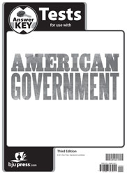 American Government Tests Answer Key (3rd ed.)