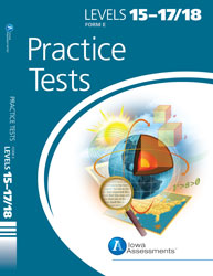 Practice Test Student Only for Form E Iowa Assessments: Grades 9-12 (Levels 15-18, additional student)