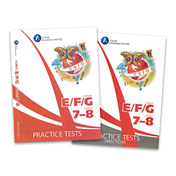 Practice Test Kit for Form E Iowa Assessments: Grades 1-2 (Levels 7-8, teacher & student)