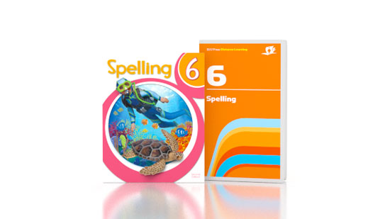 Spelling 6 DVD with Books
