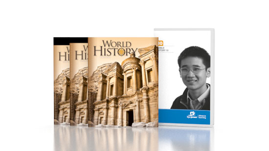 World History DVD with Books