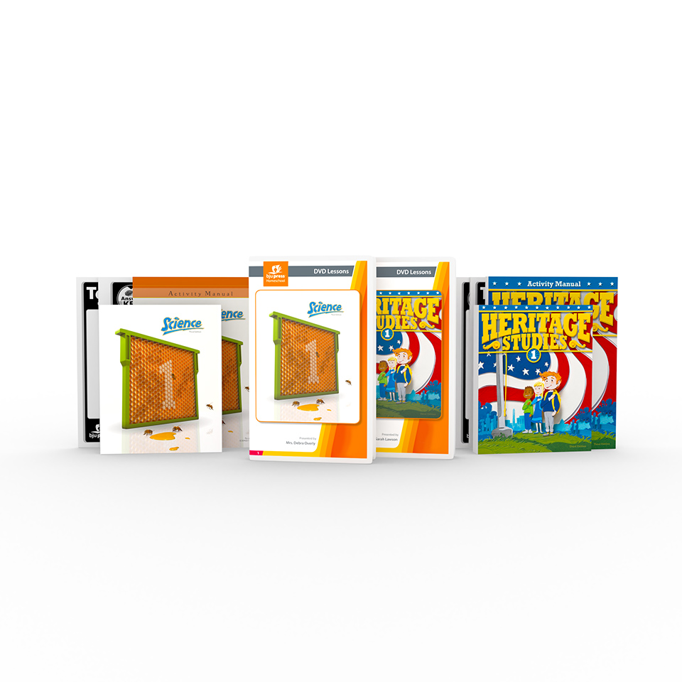 Heritage Studies 1 and Science 1 DVD with Books