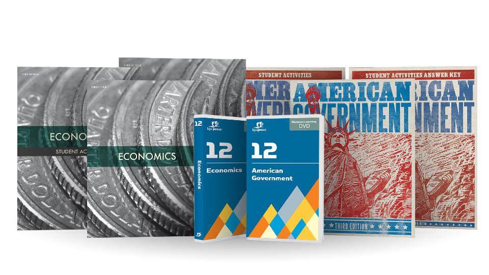 American Government & Economics DVD with Books