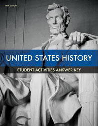 United States History Activities Manual Answer Key (5th ed.)