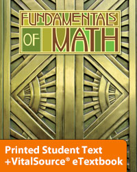 Fundamentals of Math eTextbook & Printed ST (2nd ed.; copyright update)