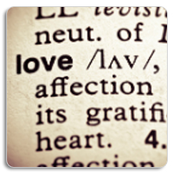 The Word Love in the Dictionary