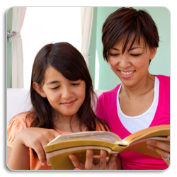 A Mother and Daughter Reading