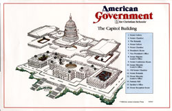 American Government Capitol Poster