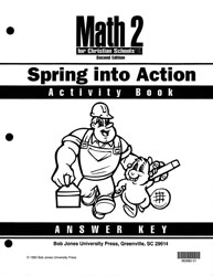 Math 2 Spring into Action Activity Book Answer Key