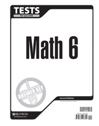 Math 6 Tests Answer Key (2nd ed.)