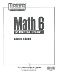 Math 6 Tests (5 pk) (2nd ed.)