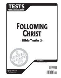 Bible Truths 3 Tests Answer Key (3rd ed.)