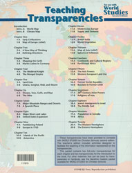 World Studies Teaching Transparencies (for use w/2nd ed.)