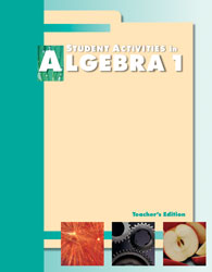 Algebra 1 Activities Manual Teacher's Edition (2nd ed.)