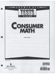 Consumer Math Tests Answer Key (2nd ed.)