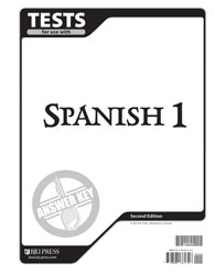 Spanish 1 Tests Answer Key (2nd ed.)