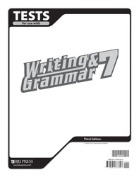 Writing & Grammar 7 Tests (5 pk) (3rd ed.)