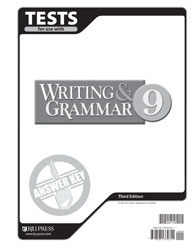 Writing & Grammar 9 Tests Answer Key (3rd ed.)