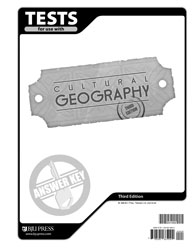 Cultural Geography Tests Answer Key (3rd ed.)