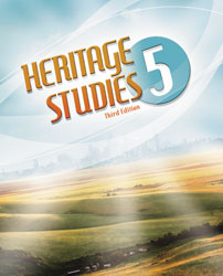 Heritage 5, 3rd ed. by BJU Press (textbook cover image)