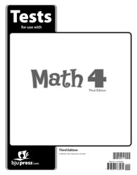 Math 4 Tests (5 pk) (3rd ed.)