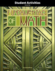 Fundamentals of Math Student Activities Answer Key (2nd ed.)
