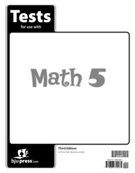 Math 5 Tests (5 pk) (3rd ed.)