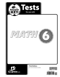 Math 6 Tests Answer Key (3rd ed.)