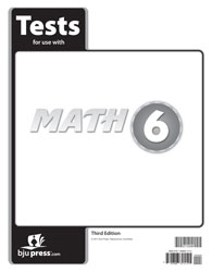 Math 6 Tests (5 pk) (3rd ed.)