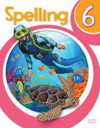 Spelling 6, 2nd ed. by BJU Press (textbook cover image)
