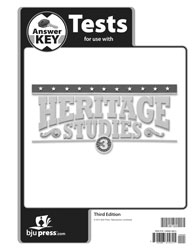 Heritage Studies 3 Tests Answer Key (3rd ed.)