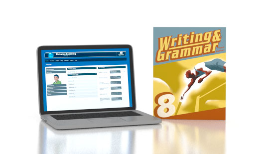 Writing & Grammar 8 Online and Books